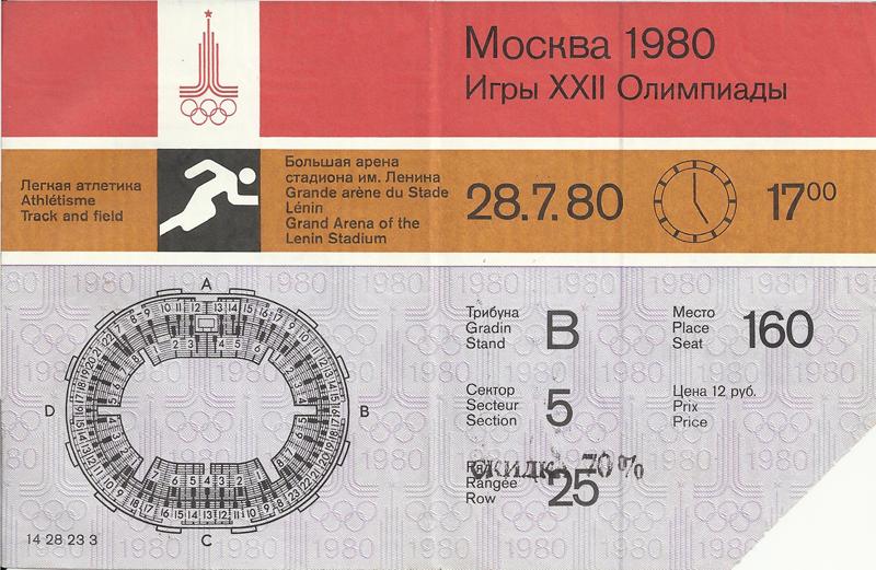 В день похорон Владимира Семёновича проводилось соревнование по лёгкой атлетике... самый дорогой билет - 12 рублей.